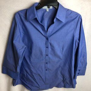 Foxcroft Non Iron Fitted Button Down Blouse